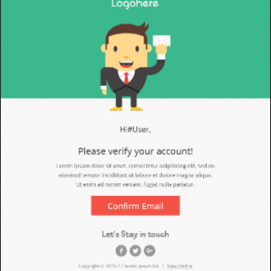 Mail Template 001-Mobile