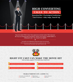 High performing Calls to action: Best Practices Infographic.