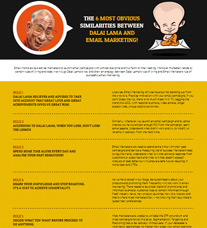 Dalai Lama and Email Marketing Analogy