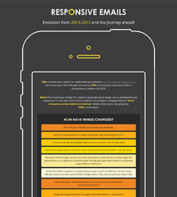 Responsive Emails Evolution: Infographic