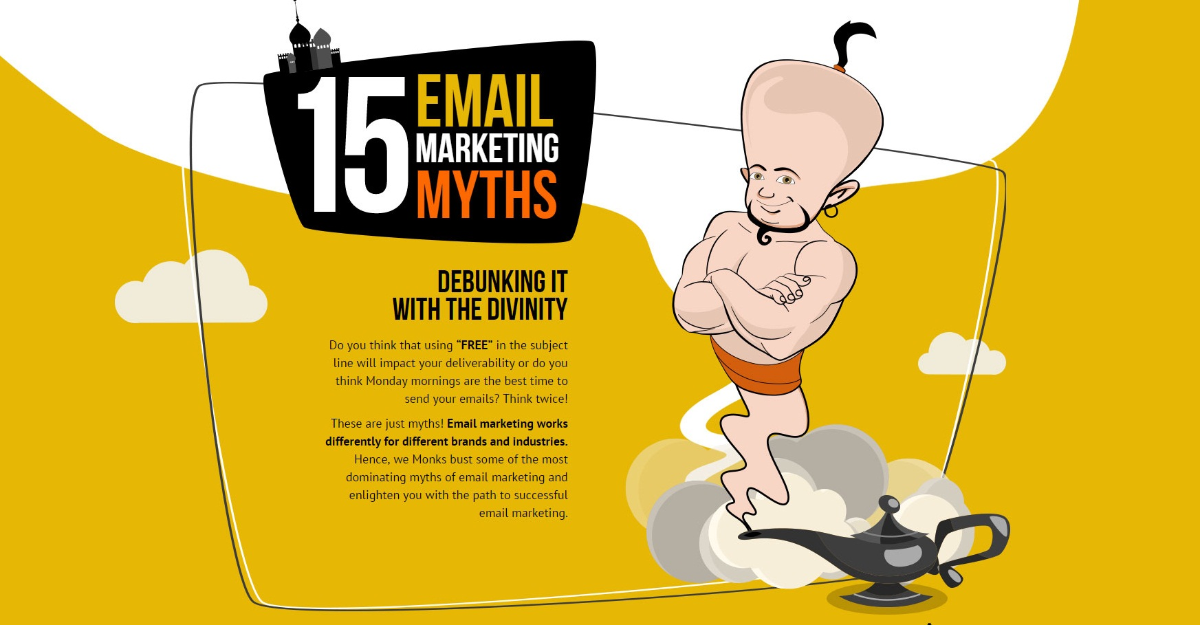 infographic debunking the top 15 email marketing myths